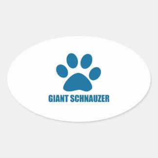 GIANT SCHNAUZER DOG DESIGNS OVAL STICKER