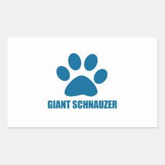 GIANT SCHNAUZER DOG DESIGNS RECTANGULAR STICKER