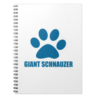 GIANT SCHNAUZER DOG DESIGNS SPIRAL NOTEBOOK
