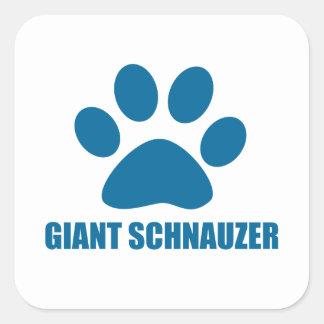 GIANT SCHNAUZER DOG DESIGNS SQUARE STICKER