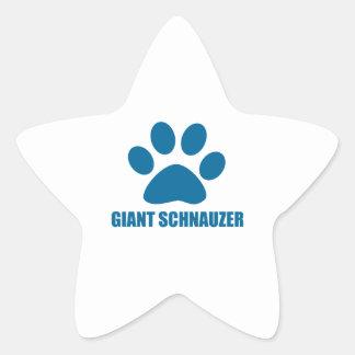 GIANT SCHNAUZER DOG DESIGNS STAR STICKER