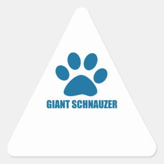 GIANT SCHNAUZER DOG DESIGNS TRIANGLE STICKER