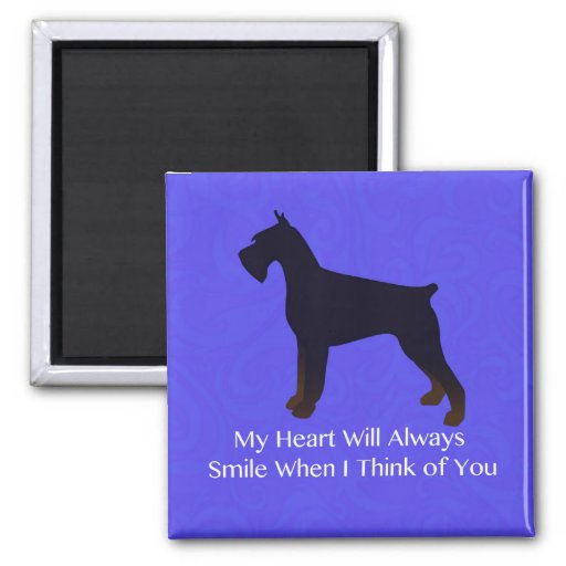 Giant Schnauzer Holiday Greetings Magnets