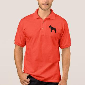 Giant Schnauzer Silhouette Polo Shirt