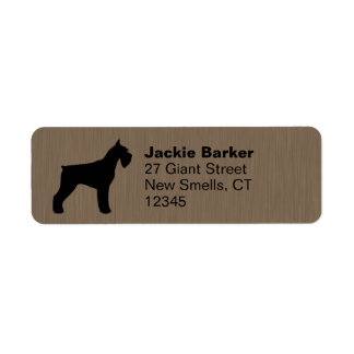 Giant Schnauzer Silhouette Return Address Label