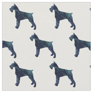 Giant Schnauzer Silhouette Tiled Fabric