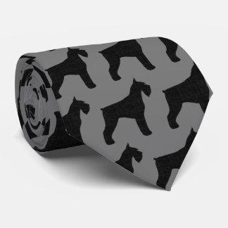 Giant Schnauzer Silhouettes Pattern Tie