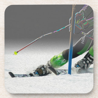 Giant Slalom Ski Race Coasters