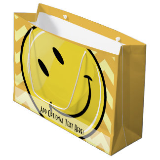 Giant Smiley Custom Yellow Gift Bag