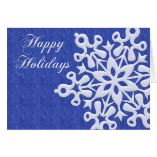 Giant Snowflake Folded Holiday Greeting Card