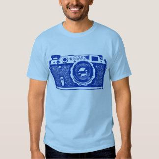 Giant Soviet Russian Camera - Navy Blue T Shirt