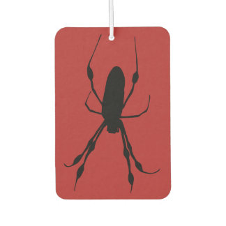 Giant Spider orb weaver black red Car Air Freshener