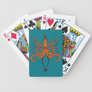 giant squid bicycle playing cards