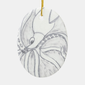 Giant Squid Ceramic Oval Decoration