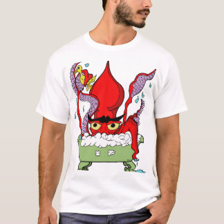 Giant Squid In A Tub T-Shirt
