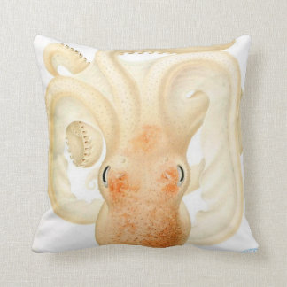 "Giant Squid/Octopus Tentacles 20"" Pillow Orange"