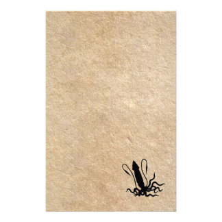 Giant Squid on old parchment Custom Stationery