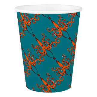 giant squid paper cup