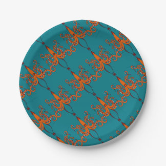 giant squid paper plate