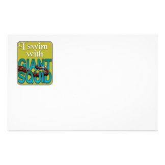 Giant Squid Personalised Stationery