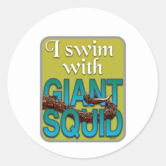 Giant Squid Round Sticker