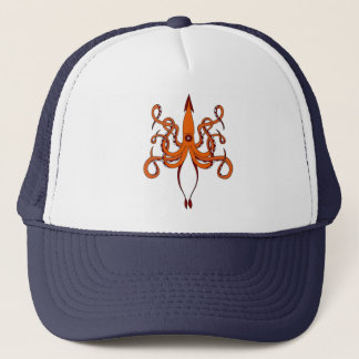 giant squid trucker hat