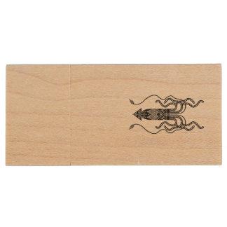 Giant Squid Wood USB 3.0 Flash Drive