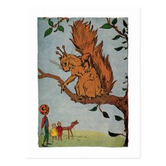 Giant Squirrel, Vintage Little Wizard of Oz Postcard