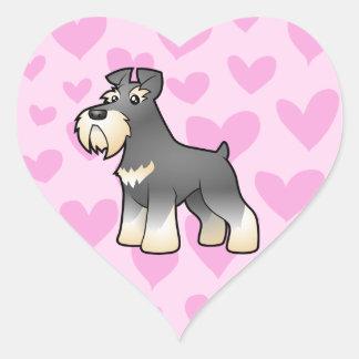 Giant/Standard/Miniature Schnauzer Love Heart Sticker