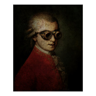 Giant Steampunk Mozart Poster
