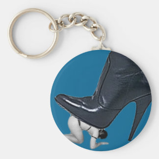 Giant Stiletto Boot Stepping on a slave Key Ring