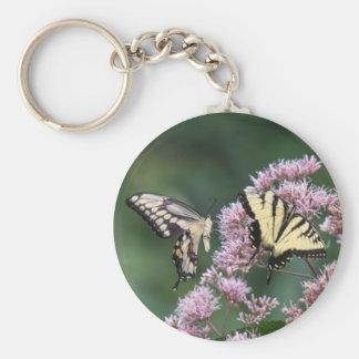 Giant Swallowtail & Eastern Tiger Swallowtail Keychains