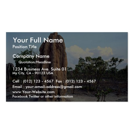 Giant termite mound, Northern Territory, Australia Pack Of Standard Business Cards