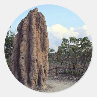 Giant termite mound, Northern Territory, Australia Stickers