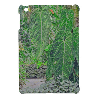 GIANT TROPICAL PLANT LEAVES IN JUNGLE GARDEN COVER FOR THE iPad MINI