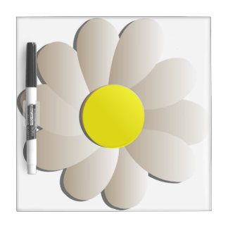GIANT WHITE DAISY SPRING TIME FLOWER WRITING BOARD DRY ERASE BOARDS