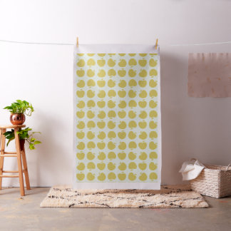 Giant Yellow Apples Pattern Mint Fabric