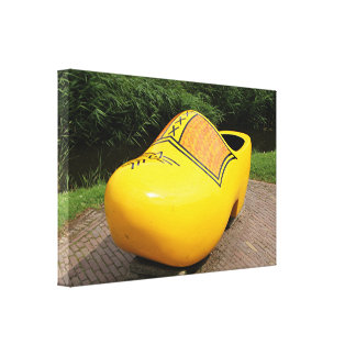 Giant yellow clog, Holland Canvas Print