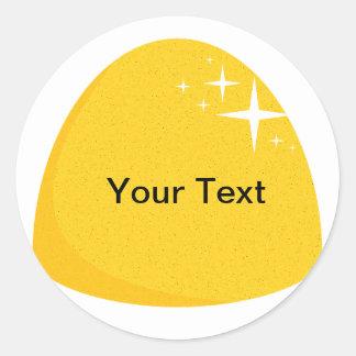 Giant Yellow Gumdrop  Candy Buffet Label Round Sticker