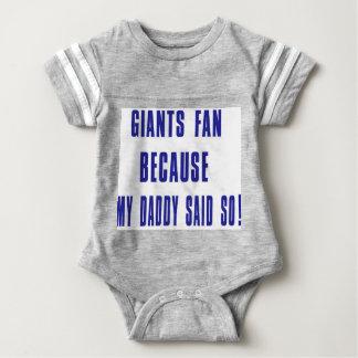 giants fan baby bodysuit