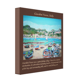 "Giardini Naxos - 12"" x 12"", 1.5"", Single Canvas Print"