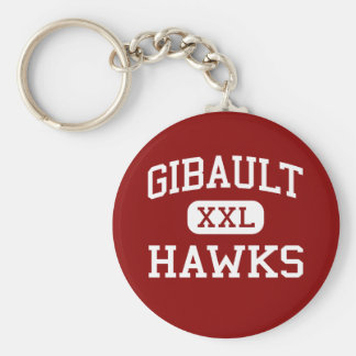Gibault - Hawks - Catholic - Waterloo Illinois Basic Round Button Key Ring
