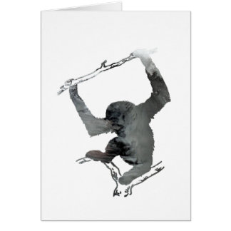 Gibbon art card