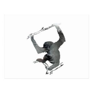 Gibbon art postcard