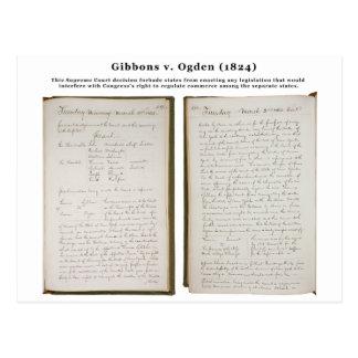Gibbons v. Ogden, 22 U.S. 1 (1824) Postcard