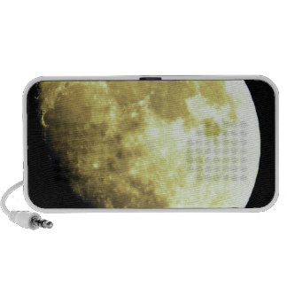 Gibbous Moon Dark background Mp3 Speakers