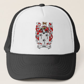 GIBBS FAMILY CREST -  GIBBS COAT OF ARMS TRUCKER HAT