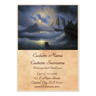 Gibraltar by Night Ivan Aivasovsky seascape waters Pack Of Chubby Business Cards