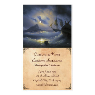 Gibraltar by Night Ivan Aivasovsky seascape waters Pack Of Standard Business Cards