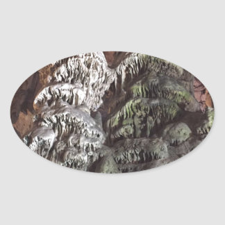 Gibraltar Caves Oval Sticker